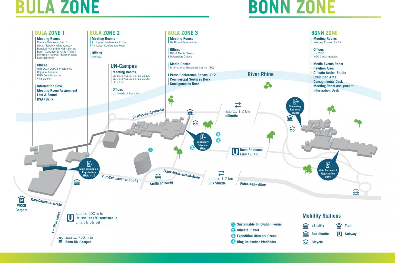 Bula Zone and Bonn Zone Overview Map
