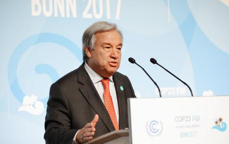 UN Secretary-General António Guterres at COP23 on 15 November 2017